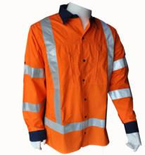100% COTTON RIPSTOP WORK WEAR <strong>SAFETY</strong> SHIRT