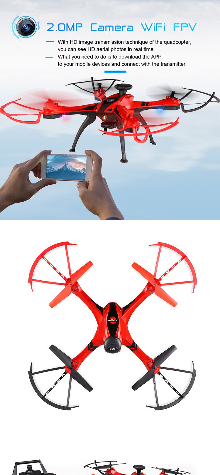 Best selling 2.4G remote control GPS 4-axis aircraft model drone with hd camera.jpg