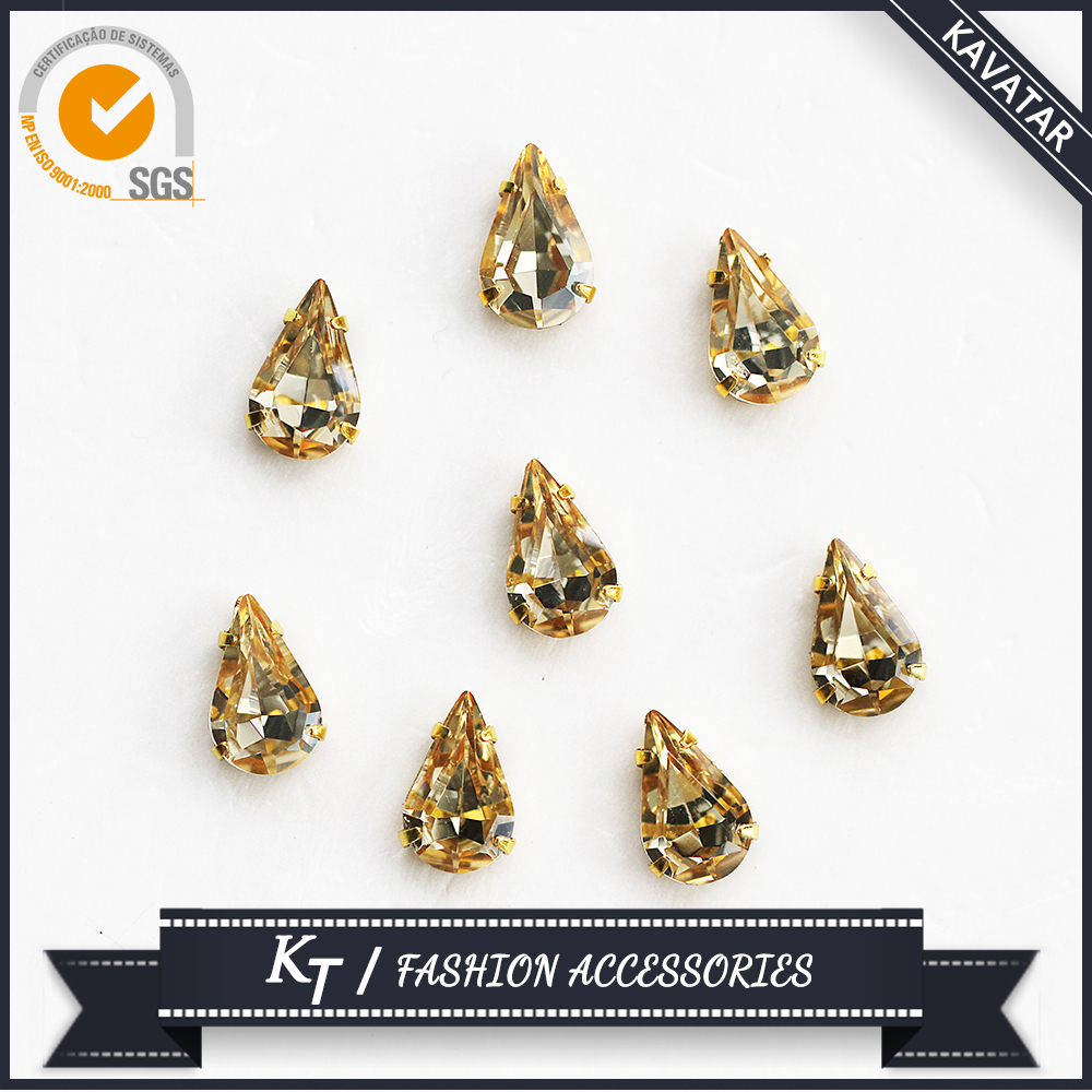 LCT color K9 high quality crystal rhinestone with metal claw
