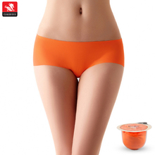 Newest charming bright color seamless western girls nylon panty gusset