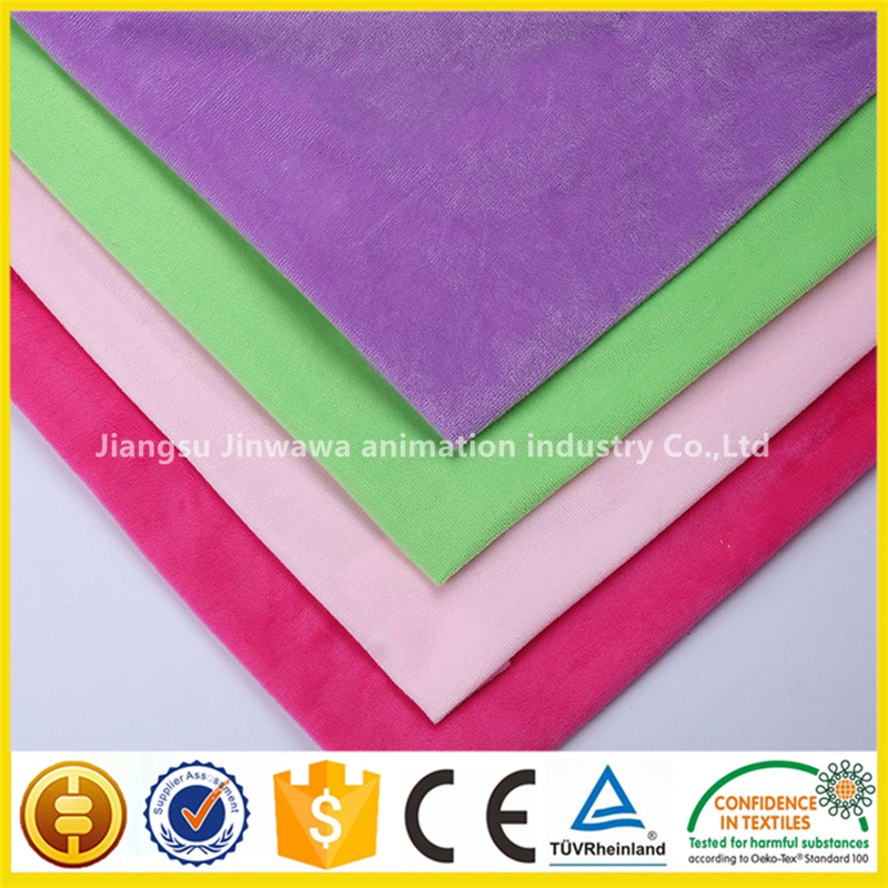Factory wholesale polyester velboa minky dot fabric lycra manufacturer
