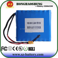 Hot Sales High Voltage 60V 2.2Ah 18650 Li-ion Battery Pack For Electric Wheel