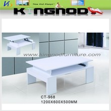 multifunction furniture Wooden mdf high gloss lift coffee table