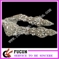 High-end product hot fix rhinestone applique trimming for wedding dress wholesale