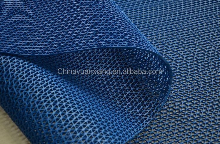 Water Drainage Mesh Non Slip Pvc Floor Mat With Bsci