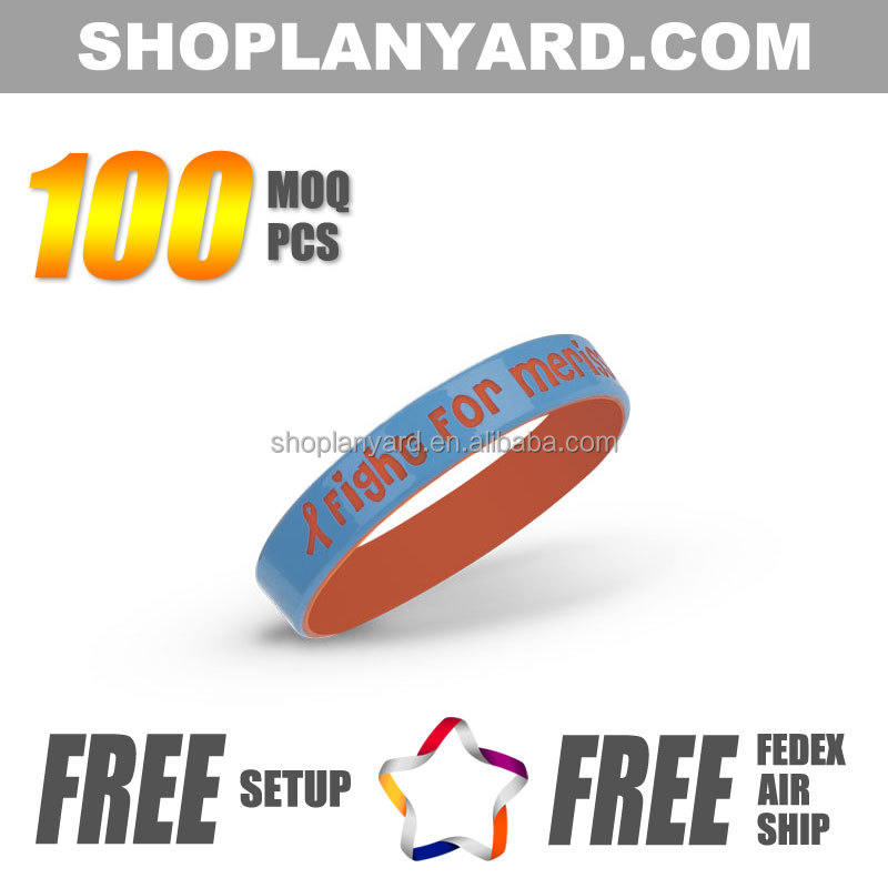Factory direct brand dual layer wristband silicon