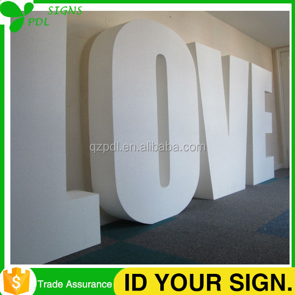 High Quality Large 3D PVC Outdoor Free Standing Signs