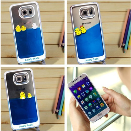 Wholesale 3d liquid floating cell phone case cover