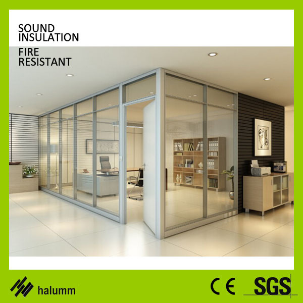 Office Interior Decoration Materials Partition Wall Installation Glass