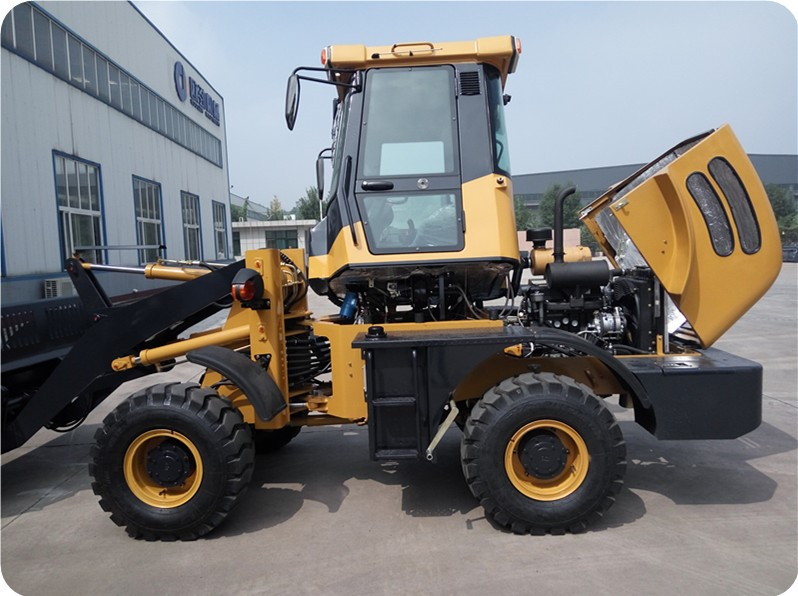 snow cleaning machine oj16 1.6ton payloader with snow ploughing