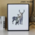 Jinnhome 2017 hot selling good quality nordic style elk MDF dark black wooden wall rectagle home decor Picture photo frame
