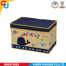 jumbo size dolphin printing non woven clothing storage box for kids