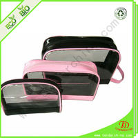 factory supply clear pvc cosmetic zipper bag