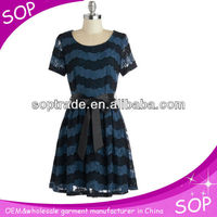 Hotsale elegant summer pictures office dress for ladies