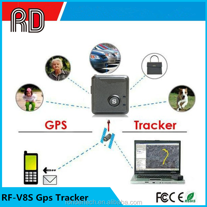 2016 High quality Mini RF-V8S GPS tracker for kids, personal tracker GPS V8S GPS Tracking system