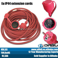 European outdoor electric extension cable wire waterproof plug ac cord
