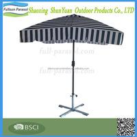Square Aluminum Outdoor Table Crank Market Umbrella