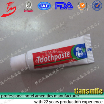 Hotel cheap disposable toothbrush with toothpaste