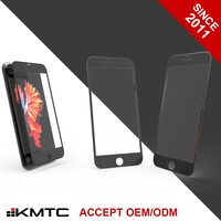 "KMTC Anti Microbial Full Cover Anti Radiation Cell Phone Screen Protector for iphone 6 plus 5.5"" BL"