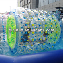 1.0mm thickness PVC inflatable water roller kids Inflatable Hamster Wheel for water pools