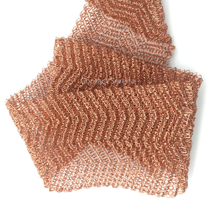 10cm Width Copper Gas Liquid Filter / Knitting Wire Mesh