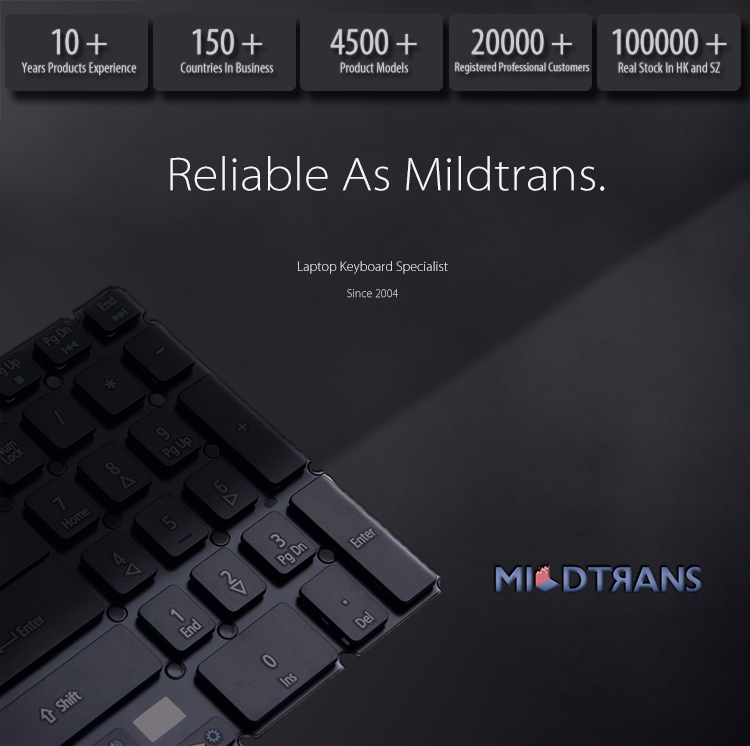 Reliable as Mildtrans,Top Professional Laptop Keyboard Supplier for Your Need