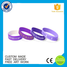 European style custom cool rubber bracelets