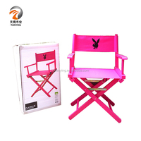 OEM travel lightweight folding director chair with cup holder