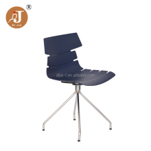 Modern Design Durable Plastic Dining Chair with Chrome Legs