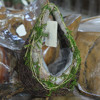 Garden ourdoor water-drap barket flower pot and plant pot with salim scattered moss coil with crack rattan
