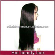 peruvian straight virgin hair thick human hair lace front wig