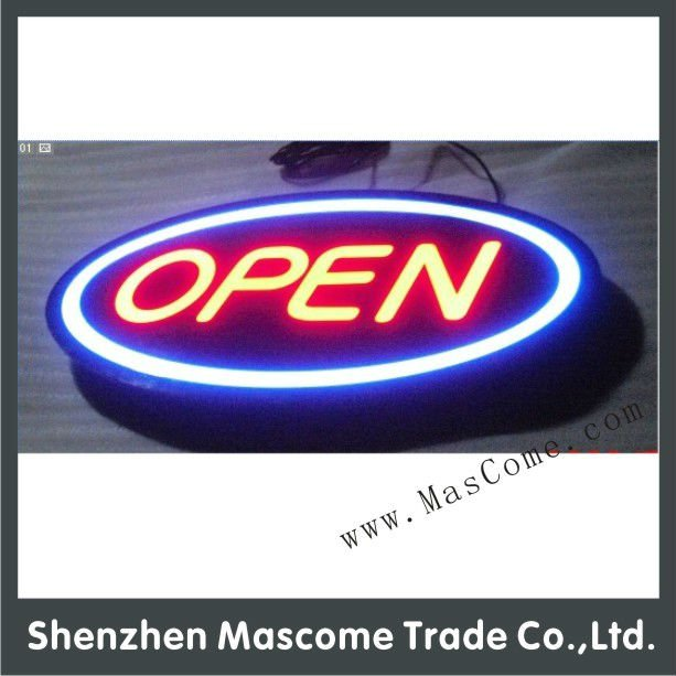 outdoor waterproof led open / closed sign
