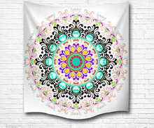 mandala tapestry fabric wall hanging custom