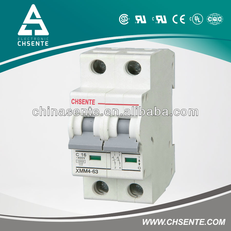 2013 new design high quality with low price mini circuit breaker oem 2p 16A-63A