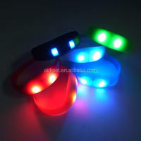 flashing sport running LED Silicone bracelet sound activated motion sensor in the bracelet