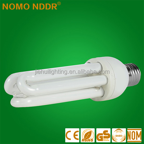 E27 110V <strong>18W</strong> best stock 3U shape pure tri color energy saving saver <strong>lamp</strong>