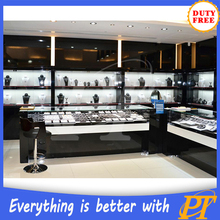 Modern Department and unique Jewelry Store Equipment/wall mount glass display cabinets for jewellery