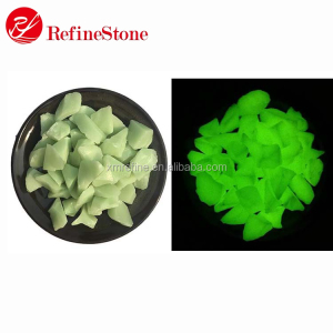 Glow in the dark black round pebble stone,glowing pebbles for decoration gardens