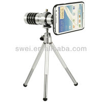 Aluminum 12X Optical Zoom Long-focus Lens Telescope For Samsung Galaxy Note II 2 N7100