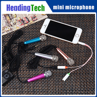 3.5mm mini microphone for mobile phone and laptop karaoke