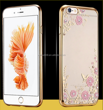 wholesale price Luxury rose gold secret garden back cover clear plating electroplating cell phone accessory for iphone
