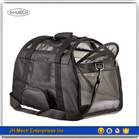 Durable and Strong Soft Sided Black Pet Carrier Airline approved