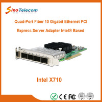 Sino-Telecom 4 Port Oprical 10G Network Card with SFP+ Interface