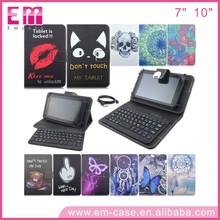 Hot Universal Leather Case Removable Bluetooth Keyboard for 7 inch/10 inch Tablet