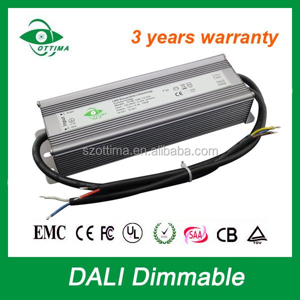 constant voltage ip67 24v 4.15a power supply adaptor outdoor lighting 100w dali led driver dimmable
