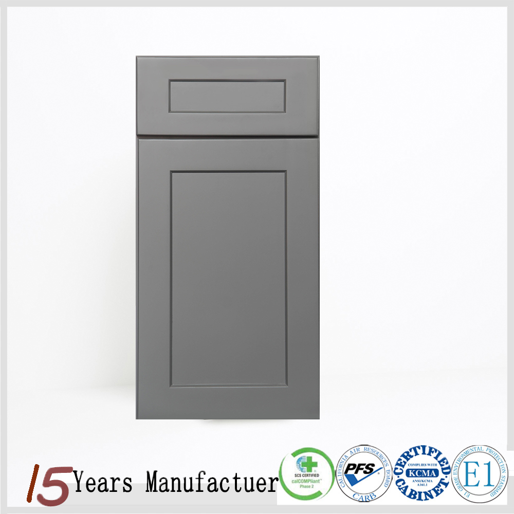 Modular Wooden Kitchen Cabinet Gray Shaker Door