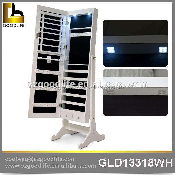 Alibaba rotating mirror jewelry cabinet