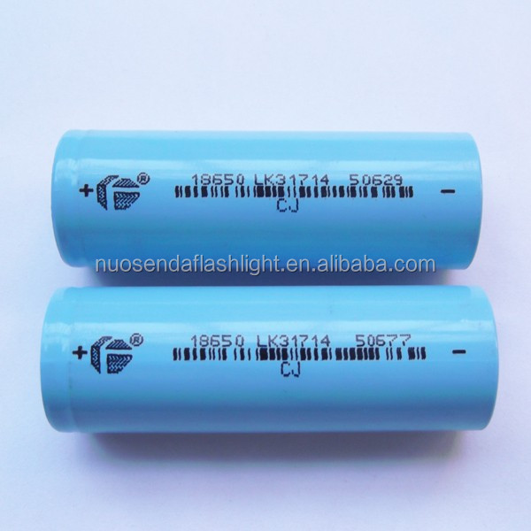 CJ 18650 2600mAh 3.6-3.7V Li-ion Rechargeable Battery