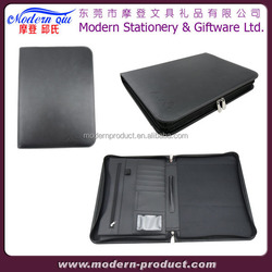 Debossed Executive A5 Zip Notebook Faux Leather Portfolio
