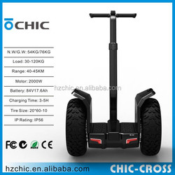 2016 Update IO Chic cross 45km 2 wheel 2000w electric standing scooter for adult